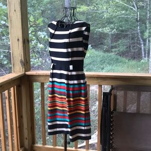 Emma & Michelle color striped dress - work dress